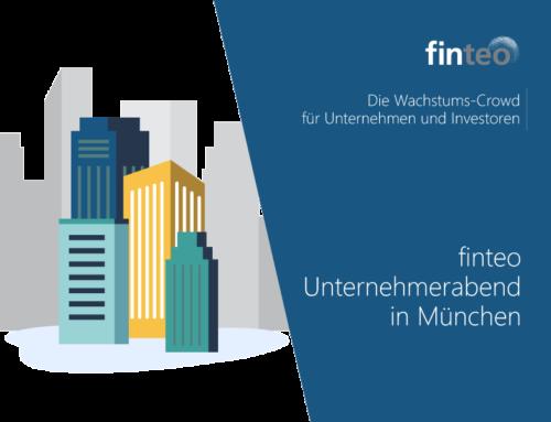 Die Crowdinvesting-Plattform finteo zu Besuch in München | Unternehmerabend