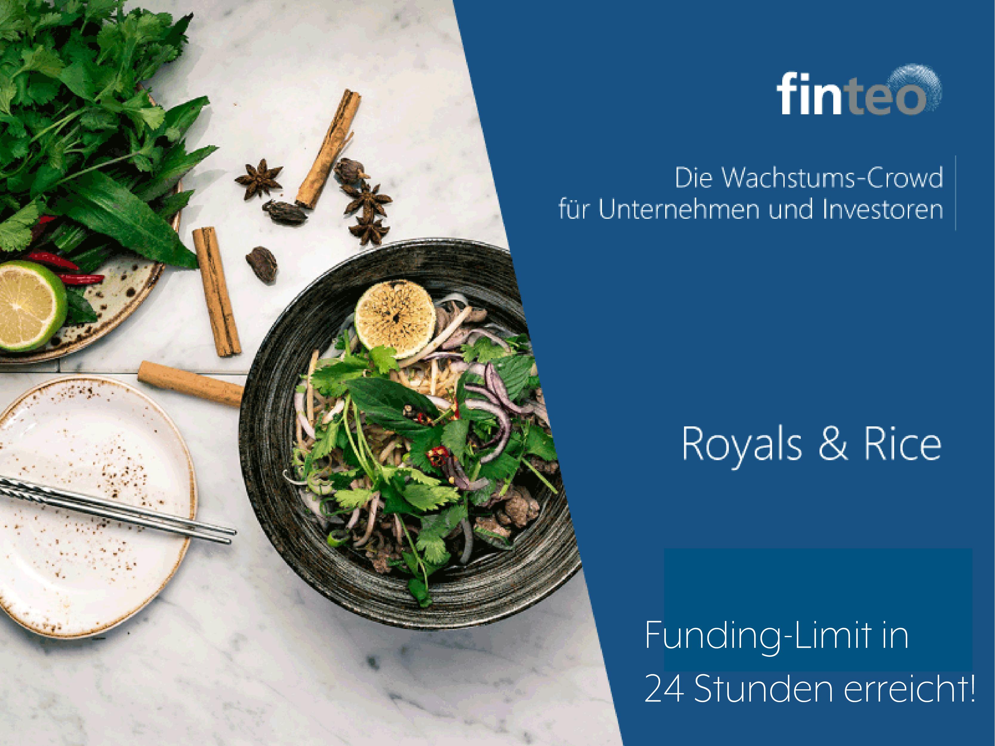 Royals & Rice Funding-Limit in 24 Stunden erreicht