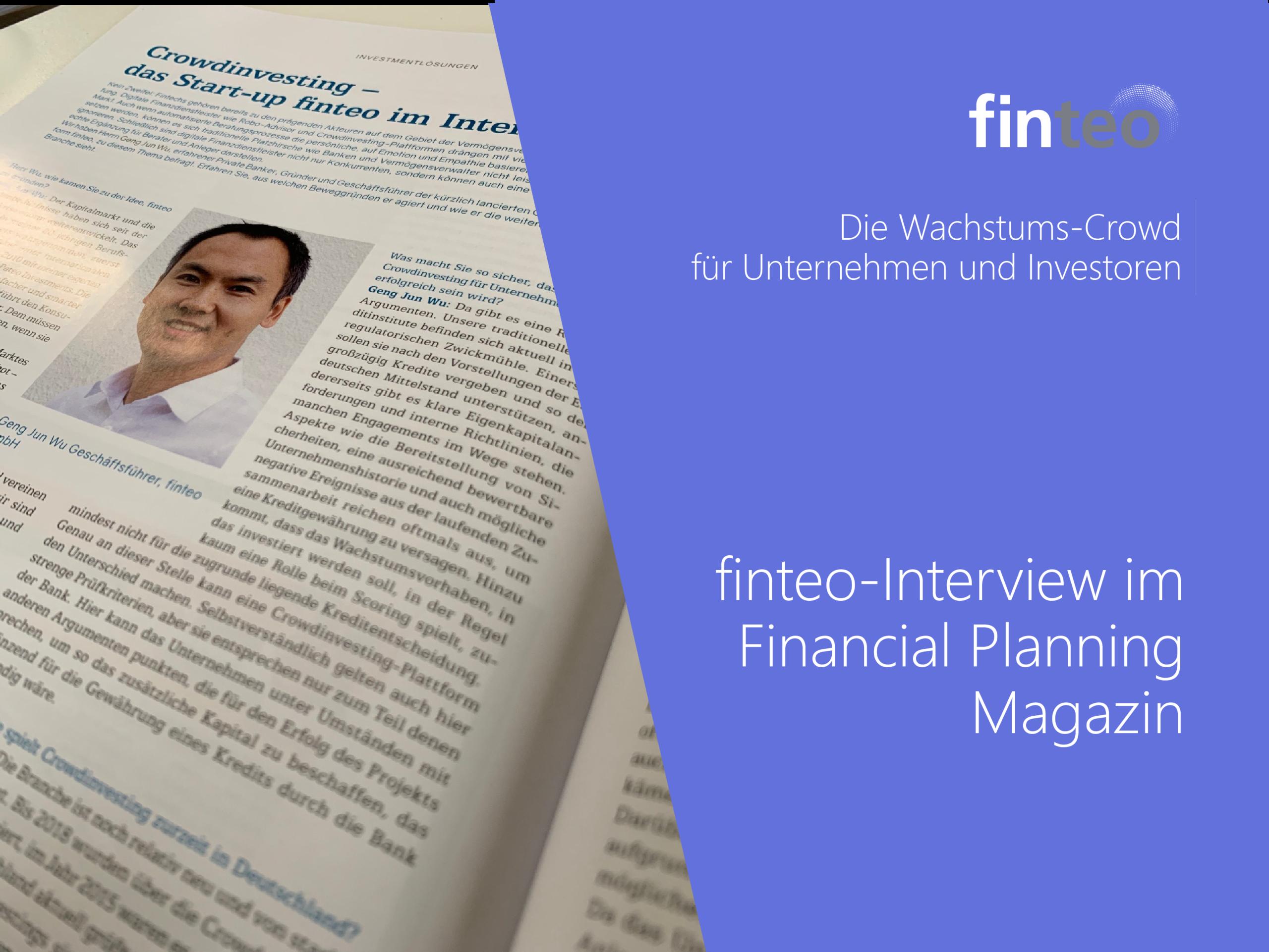 finteo-Interview im Financial Planning Magazin