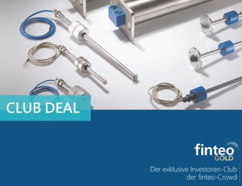 Erster finteo Club-Deal binnen eines Werktages voll platziert!