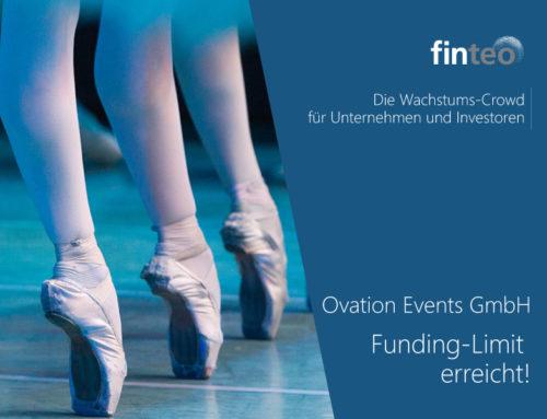 Voller Erfolg! Ovation Events GmbH erreicht Funding-Limit